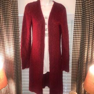 Express lightweight burgundy open cardigan ❤️